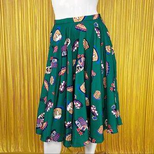 MODCLOTH Holiday Midi Skirt with Pockets S